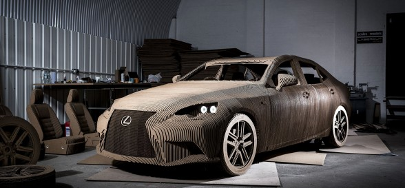 Lexus' stunning IS salon reproduced in origami form
